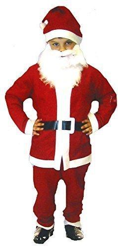 S-Costume da Babbo Natale con bambini vestito per bambina, età 4-6 anni)