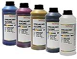 Mimaki Streamline Tinte Ultima HPQLO | 1 Liter | geruchsarme Premium-Tinte Reiniger Tinten-Set (CMYK-Set + Reiniger)