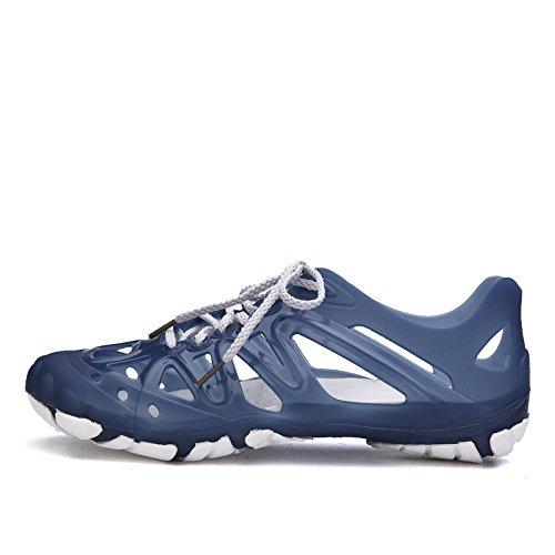 Xing Lin Chaussures DÉté Hommes Chaussures Hommes Chaussures Grotte Respirante En Plastique Sandales Baotou Chaussures De Plage Chaussures De Plage Chaussures Hommes Pataugeant Et Antidérapante Navy blue