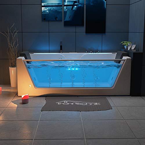 TroniTechnik Whirlpool Badewanne KOS 2 179cm x 85cm mit Heizung Hydromassage Bachlauf und Farblichtherapie - 2