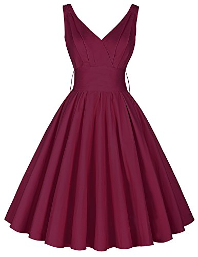 d rockabilly petticoat kleid knielang vintage kleider retro kleid S CL8955-4 (Nylon Petticoats)