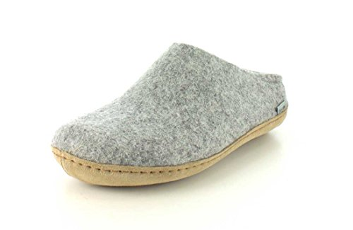 Glerups - Chausson gris clair taille basse - Gris