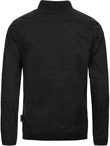 S!RPREME Herren Jacke Ambrose Übergangsjacke Sommerjacke Militär Used Look Vintage Style Softshell-Jacke Schwarz - 2