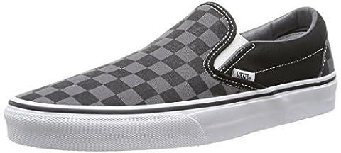 Vans Unisex-Erwachsene Classic Slip-On Low-Top, Schwarz ((Checkerboard), black/pewter), 40 EU (Familie Van)