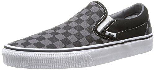 Vans Unisex-Erwachsene Classic Slip-On Low-Top, Schwarz ((Checkerboard) black/pewter), 45 (EU)