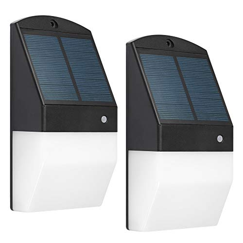 Luz Solar Exterior Lámpara 2 Piezas Solar Jardín