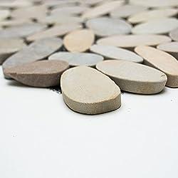 Tiles mosaic Cut Mosaic Tiles Pebble Natural Stone 9mm # 427