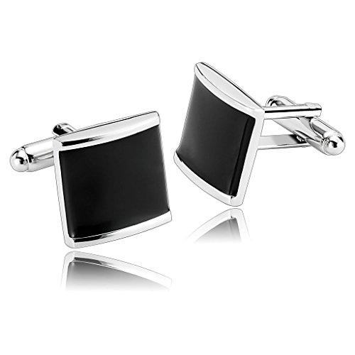amdxd-jewelry-stainless-steel-men-cufflinks-black-shirt-square-cube-sugar-cuff-links