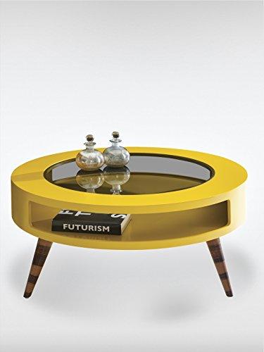 roombird Designer Couchtisch Golf gelb (BxTxH) 99 x 99 x 39
