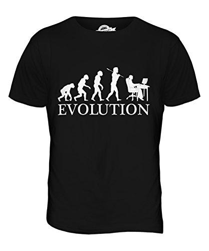 CandyMix Angestellter Büroangestellter Evolution Des Menschen Herren T Shirt Schwarz