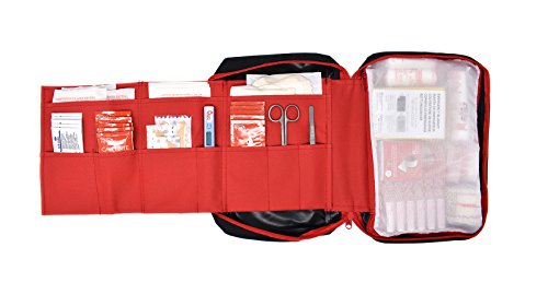 41C%2BPDuw9ZL - Botiquín primeros auxilios SUPER ROL con 120 artículos indispensables para realizar curas de emergencia (NEGRO)