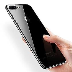 Kktick Iphone 8 Plus Hülle, Iphone 7 Plus Hülle, Handyhülle Iphone 8 Plus Ultra Dünn Plating Bumper Case Silikon Kratzfeste Schutzhülle Für Iphone 7 Plusiphone 8 Plus (Schwarz)