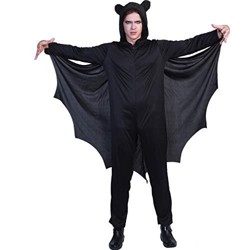 EraSpooky Fledermaus Halloween-Kostüm Männer Frauen (Dress Up Kostüm Männer)