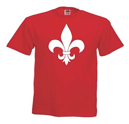 -Spirit of Isis- Fleur de lis T712 T-shirt rotweiß