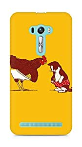 Amez designer printed 3d premium high quality back case cover for Asus Zenfone Selfie (Cat chicken underwear cute illust art)