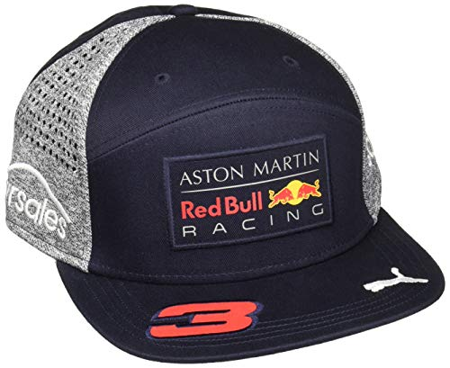 Red Bull Racing Adultos Red Bull AMR Ricciardo Flat Cap 2018, Blue, Ta