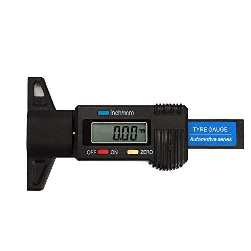 Pumpkin Medidor Digital de Profundidad de Neumáticos para Bicicletas Coches y Furgonetas 0-25.4mm