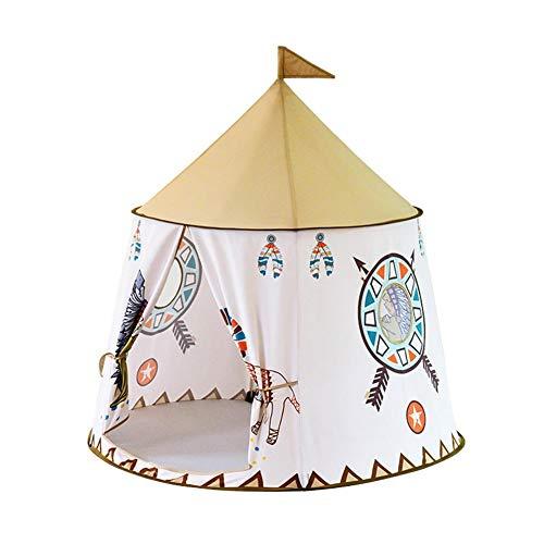 Occitop Tragbares Kinder-Tipi-Zelt Prinzessin Schloss Baby Indoor Spiel Spielhaus Kampagnenladen für Kinder/Spielhaus