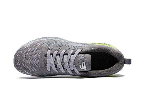 onemix Paar Sportschuhe Männer und Frauen Schuhe Turnschuhe Kissen Laufschuhe leichte atmungsaktive Polsterung Frühling und Sommer Grau