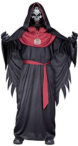 Sorcier Kostüm - Fancy Me Jungen Dunkel Hexenmeister Zauberer Sorcier Demented Skelett Lord Halloween Horror Kostüm Kleid Outfit 7-12 Jahre - Schwarz, 7-9 Years