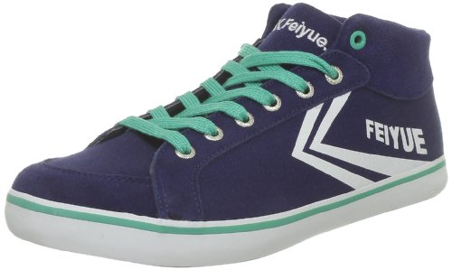 Feiyue Delta Mid Classic, Baskets mode mixte adulte Bleu (0499)