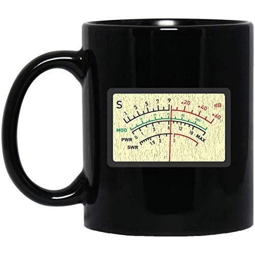 SWR Meter Amateur Ham Radio Novelty Distressed 11 oz. Black Mug Meter Ham Radio