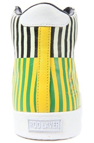 Adidas Originals X Cérémonie d'ouverture Le Rod Laver Vintage Salut Sneaker 8 Vert Blk/Yellow