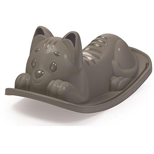 #0618 Kleinkindschaukel Wippe in Katzenform ideal für Kinder ab 18 Monaten • Schaukel Katze Schaukeltier Schaukelpferd Baby Spielzeug Grau