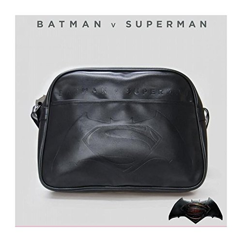 Sac à bandoulière Messenger noir officiel Batman V Superman Logo