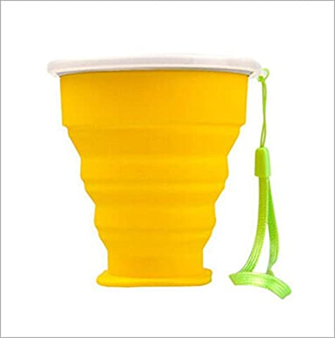 3ZFAMILYRetractable Collapsible Portable Silicone Outdoor Travel Drinking Cup for travelling, camping, hiking & commuting to (Outdoor Metallo Wall Art)