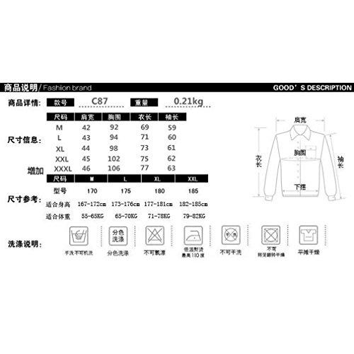 Honghu Homme Casual Slim Fit Joker Grille Manches Longues Commerce Chemise Bleu Marine