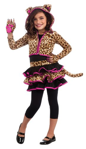 Drama Queens Leopard Hoodie Costume, Large by Rubie's