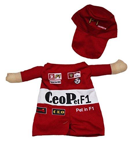 petitebelle Puppy Kleidung Hund Kleid Racer Hat (Racer Kostüme Halloween)
