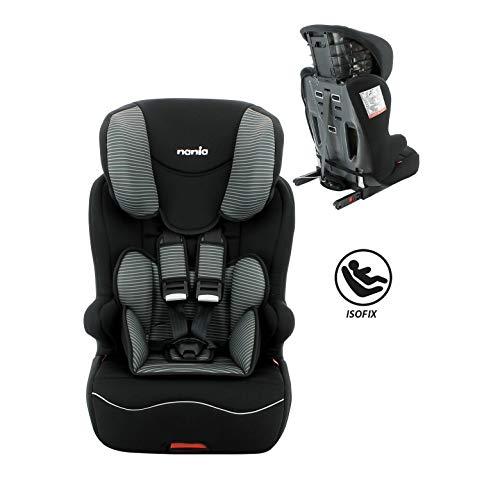 Siège auto enfant Isofix groupe 1/2/3 (9-36kg)-Protections latérales-Housse confort-Fabrication Française-NANIA racer