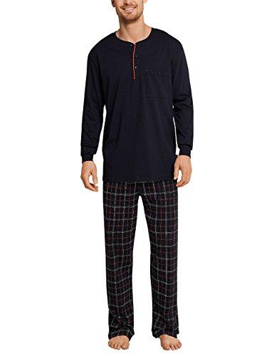 Schiesser Herren Zweiteiliger Schlafanzug Anzug Lang 159630, Gelb (Whisky 604), XX-Large (Herstellergröße 056)
