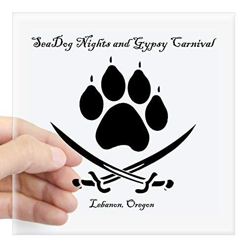 CafePress Sticker, Motiv Seadog Nights Logo Small - 3x3 farblos -
