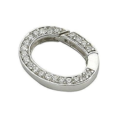 quoins QSZ. En Argent Sterling 925Fermeture/Verrouillage–Coupler avec quoins colliers/bracelets–Choix de 4designs différents