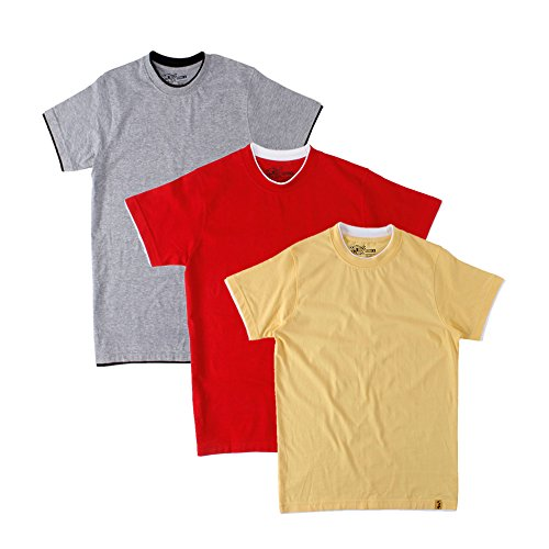 Campus Sutra Combo RIB Tshirt Pack of 3