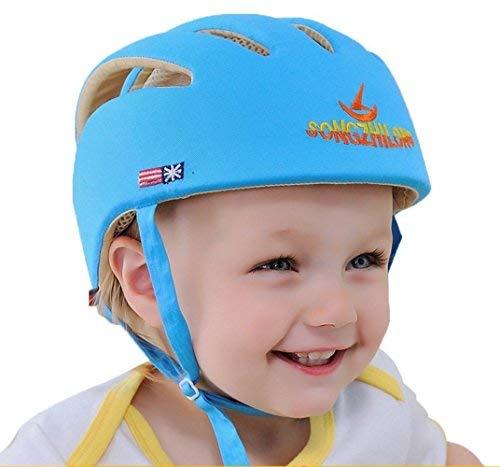 Infant Baby Kleinkind Schutzhelm Kinder Kopfschutz Hut zum Gehen Krabbeln Baby Kinder Infant Einstellbare Schutzhelm Headguard Schutzgeschirre Kappe (Blau)