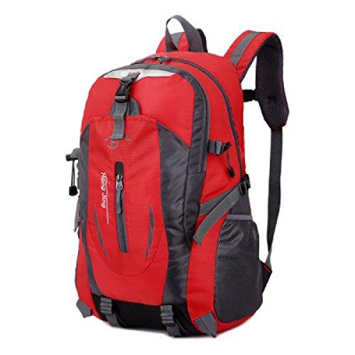LQABW Alpinismo Coppia Impermeabile Borsa A Spalla Esterna Camminare Esercizio Escursionismo Ridotto Breathabl Zaino 40L,Black Red