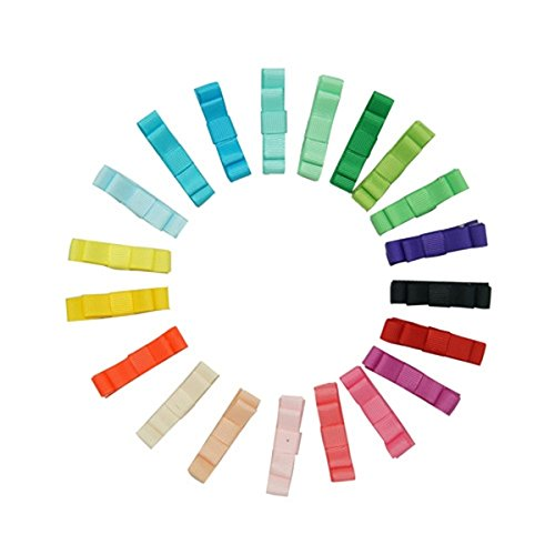 Archi WINOMO 12pcs capelli clip di capelli per ragazze bambini Alligator Clip a nastro (colore casuale) - Bellezza Arco