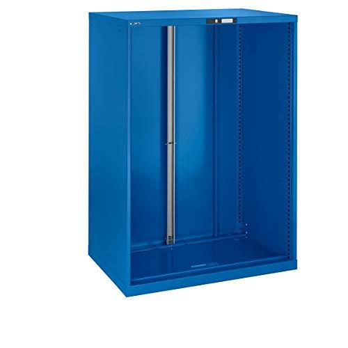 LISTA Schubladenschrank Leergehäuse, Außen-BxT 564 x 572 mm, Höhe 850 mm, lichtblau -...