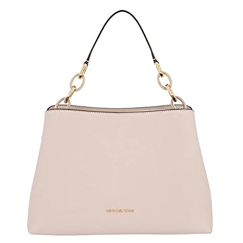 MICHAEL by Michael Kors Portia Soft Pink Large Leather Shoulder Bag one size Pink