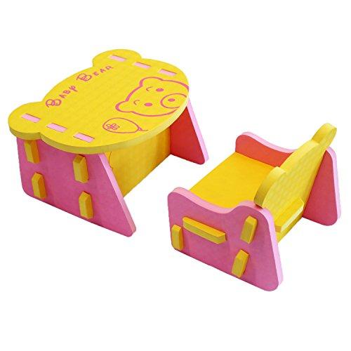 Kinder, die New Animal Eva Puzzle Tisch & Stuhl-Set Kids Kinder Möbel meiqicool 03HF
