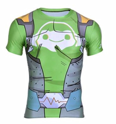 Men's Cosplay Srever Genji Close-Fitting Tee Shirt 60