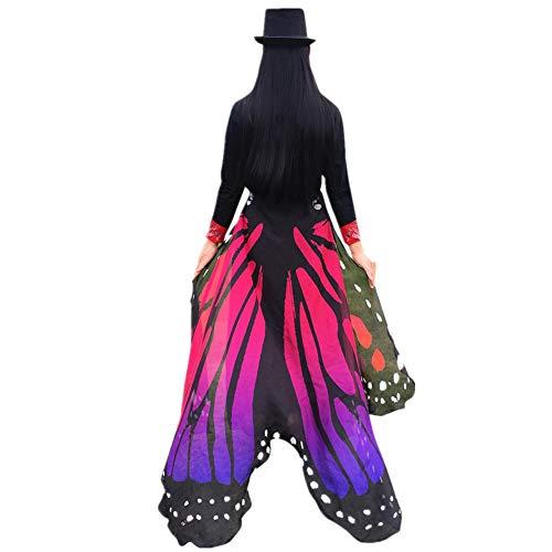 e hochwertige Mode Schmetterling Flügel Schal Fee Damen Nymph Pixie Kostüm Zubehör (197 * 125CM, Pink) ()