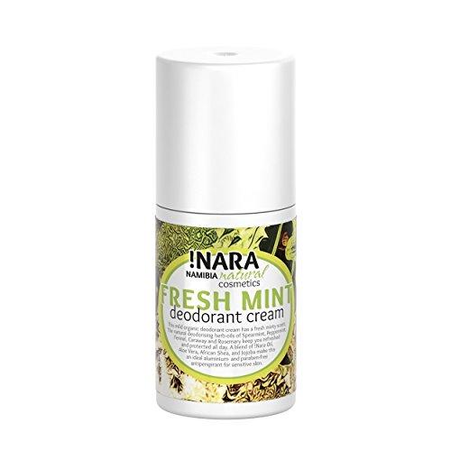 !Nara Bio Cosmetici Naturali Crema Deodorante alla menta 50 ml deodorante unisex delicato con oli vegetali e aromatizzati senza alluminio e alcool per pelli molto sensibili – anche per adolescenti