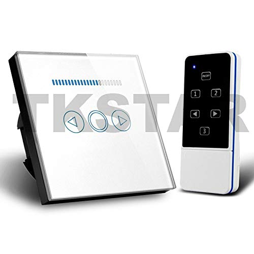 TK STAR 230V 433,92Mhz Funk Touch LED Dimmer Schalter weiß paßt für LED Leuchtmittel GU10, E27, LED Panels, LED Einbauleuchten, LED Treiber (weiß)