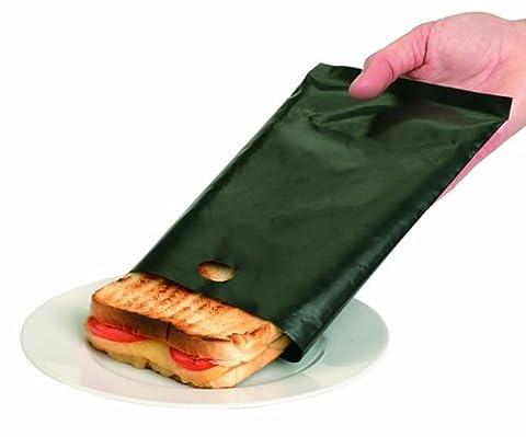 Caraselle - Sacs à toasts originaux - 1 paquet de 2. Grillez vos sandwiches et encas dans le grille-pain, sans saleté. Peut être réutilisé jusqu'à 300 fois.