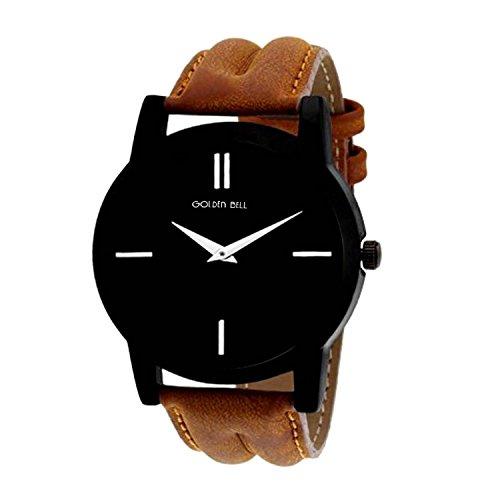 Golden Bell® Original Black Dial Men's Analog Wrist Watch - GB - 852